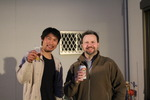 Masaki san and I having a beer ... or two ...