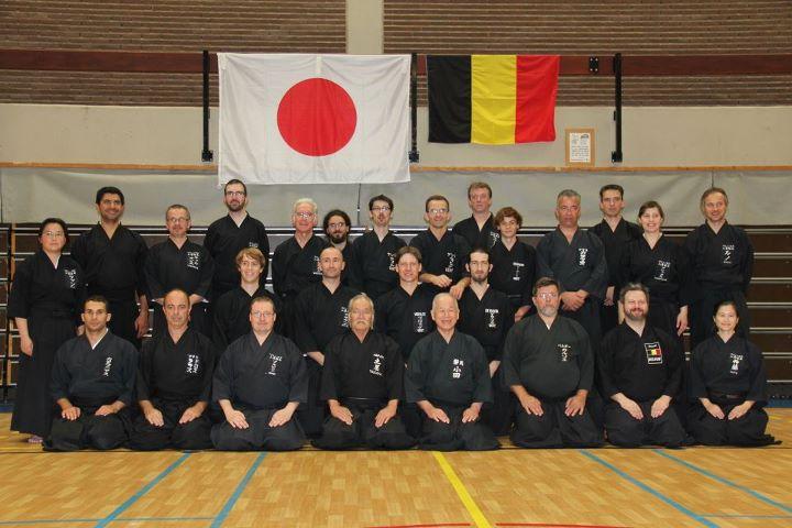 Oda Katsuo sensei students - Muso Jikiden Eishin Ryu Group - Brussels / Gent / Athens